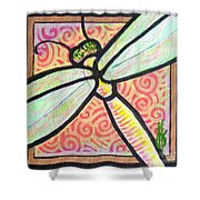 Dragonfly Fantasy 3 Shower Curtain
