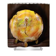 Dragonfly In Amber Shower Curtain