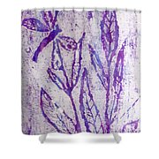Dragonfly In Lavender Shower Curtain