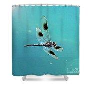 Dragonfly In Sunshine - Digital Art Shower Curtain