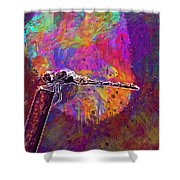 Dragonfly Insect Close Wing  Shower Curtain