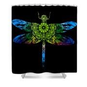 Dragonfly Kaleidoscope Shower Curtain by Deleas Kilgore