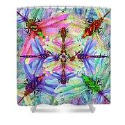 Dragonfly Mandala Shower Curtain