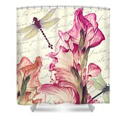 Dragonfly Morning II Shower Curtain