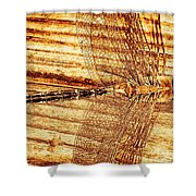 Dragonfly Sepia Shower Curtain