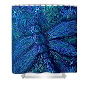 Dragonfly Series B Shower Curtain
