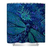 Dragonfly Series C  Shower Curtain