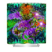 Dragons Abstract. Shower Curtain
