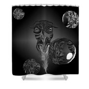Dragons And Tigers Shower Curtain