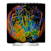 Dragons And Wizards Shower Curtain