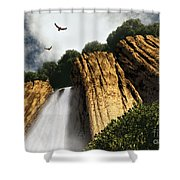 Dragons Den Canyon Shower Curtain