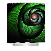 Dragons Eye Shower Curtain by John Edwards