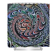 Dragon's Eye Shower Curtain