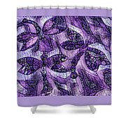 Dragons In Lavender Mosaic Shower Curtain
