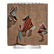 Dragons In The Railyard - Santa Fe #2 Shower Curtain