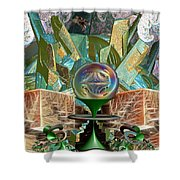 Dragon's Treasure Shower Curtain