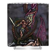 Dragonslayer Shower Curtain