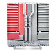 Drain Pipes Shower Curtain