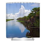 Drainage Canals Make Farming Possible In Florida Shower Curtain
