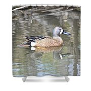 Drake Blue Wing Shower Curtain