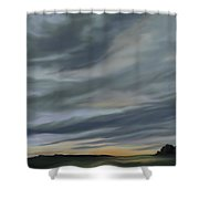Drama In A Morning Sky Shower Curtain
