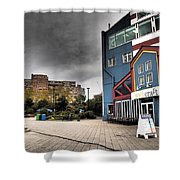 Drama In The City 9 Shower Curtain