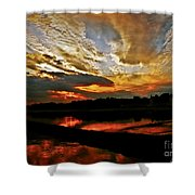Drama In The Sky At The Sunset Hour Shower Curtain