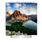 Drama Of The Canadian Rockies 3 Shower Curtain