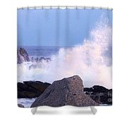 Drama Of The Rocky Shore Shower Curtain
