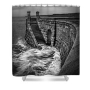 Drama Of The Sea Shower Curtain