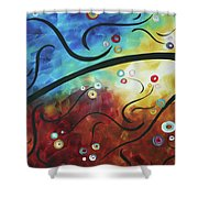Drama Unleashed 2 Shower Curtain by Megan Duncanson