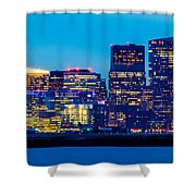 Dramatic Boston Skyline  Shower Curtain