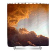 Dramatic Cloud Painting Shower Curtain