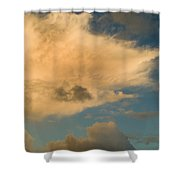 Dramatic Clouds In The Sky Resting Shower Curtain