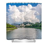 Dramatic Clouds Over Salzburg Shower Curtain