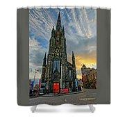 Dramatic Edinburgh Sunset At The Hub In Scotland  Shower Curtain