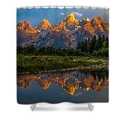Dramatic Grand Teton Sunrise Shower Curtain