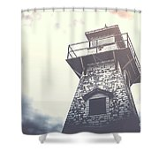 Dramatic Lighthouse Shower Curtain