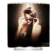 Dramatic Pin Up Fashion Photograph Shower Curtain