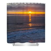 Dramatic Ocean Reflection Of Color Shower Curtain