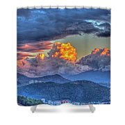 Dramatic Sky And Clouds Shower Curtain