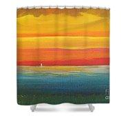 Dramatic Sky Beach Shower Curtain