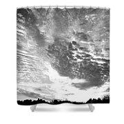 Dramatic Sky Bw Shower Curtain
