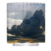 Dramatic Sky With Crepuscular Rays Shower Curtain