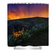 Dramatic Spring Sunset In Boise Idaho Usa Shower Curtain