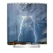 Dramatic Strike Shower Curtain