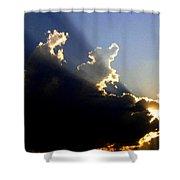 Dramatic Sunburst Shower Curtain