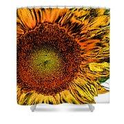 Dramatic Sunflower Shower Curtain