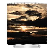 Dramatic Sunset Shower Curtain