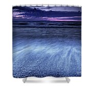 Dramatic Sunset Scenery Of Lake Huron Shower Curtain